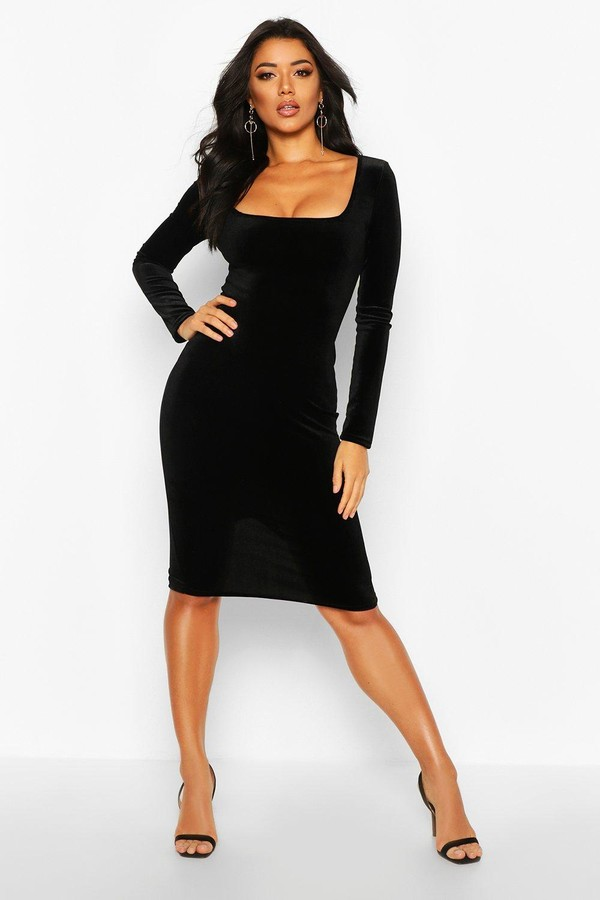 05f79fa7af6 boohoo Black Long Sleeve Dresses - ShopStyle