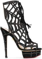 Charlotte Olympia embellished web sandals