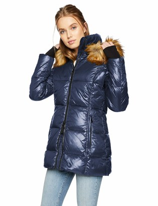 S13 Women's Gramercy Mid Length Down Puffer with Faux Fur Hood