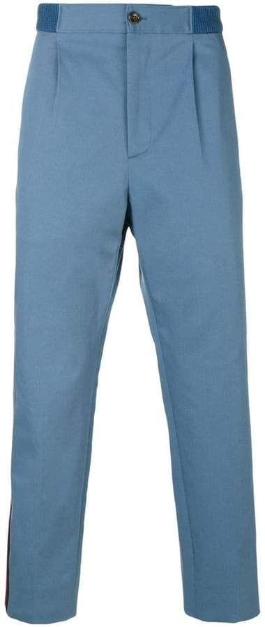 Gucci Web cropped trousers