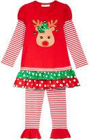 Bonnie Jean 2-Pc. Reindeer Tunic & Leggings Set, Toddler Girls (2T-4T) & Little Girls (4-6X)