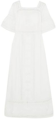 Talitha Collection Sarafina Crochet-trimmed Embroidered Cotton Midi Dress