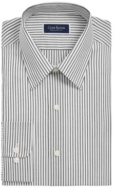 Club Room Men's Classic/Regular-Fit Stripe Dress Shirt, Created for Macy's