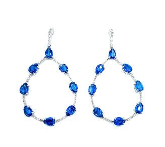 Arthur Marder Fine Jewelry Silver 0.90 Ct. Tw. Diamond & Kynite Earrings