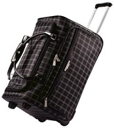 "American Tourister 21"" Fashion Rolling Windowpane Duffel Bag - Black"