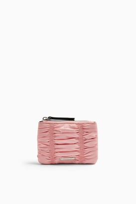 Topshop ALLY Pink Ruched Zip Top Purse
