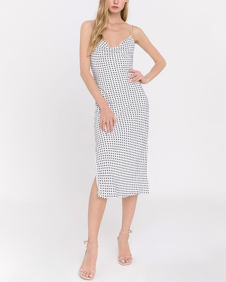 Express Endless Rose Polka Dot Slip Dress