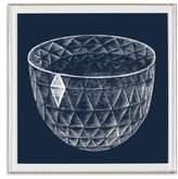 Natural Curiosities Framed Faceted Diamond Bowl Print