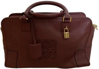 Loewe Amazona Red Leather Handbags