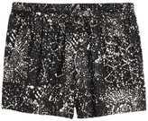 H&M Patterned Jersey Shorts - Black - Ladies