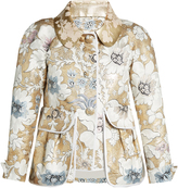 Fendi Detachable-collar floral-brocade jacket