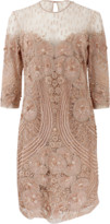 Naeem Khan Beaded Crew Neck Dress