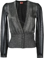 Missoni fitted waist cardigan - women - Polyester/Cupro/Viscose - 40