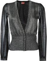 Missoni fitted waist cardigan - women - Polyester/Cupro/Viscose - 44