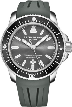 Stuhrling Original Men's Maritimer Gray Dial Watch