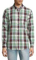 Wesc Nisse Woven Plaid Button-Down Shirt