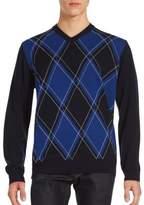 Bugatchi Diamond-Knit Long Sleeve Sweater