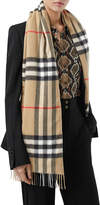 Burberry Giant Check Icon Stripe Silk Wadded Scarf