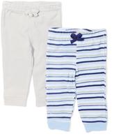 Sweet & Soft Gray & Blue Stripe Pants Set - Infant