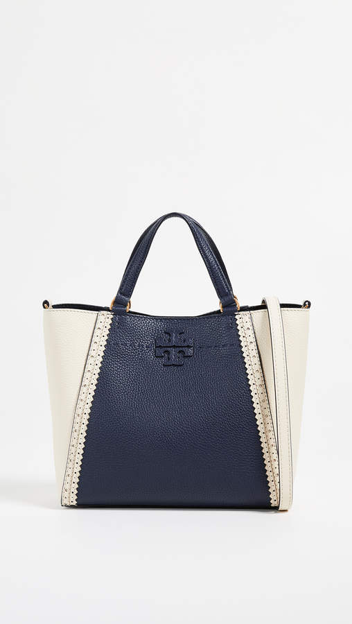 Tory Burch Mcgraw Brogue Small Caryall Tote