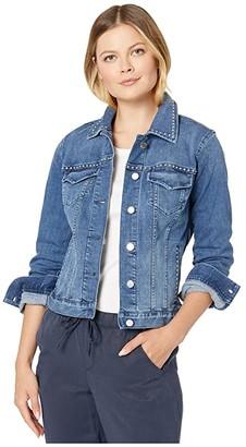 Vince Camuto Studded Lighter Indigo Jean Jacket (Spectrum Blue) Women's Jacket
