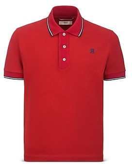 Bally Slim Fit Cotton Tipped Polo