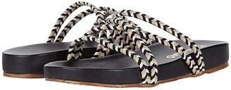 Kaanas Rhodes Braided Pool Slide (Black) Women's Shoes