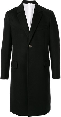 CK Calvin Klein cashmere single-breasted coat