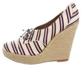 Tabitha Simmons Striped Platform Wedges