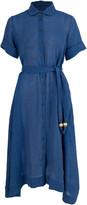 Lisa Marie Fernandez Moroccan Blue Shirt Dress
