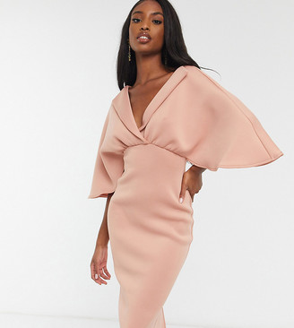 Asos Tall ASOS DESIGN Tall shirt midi pencil dress in rose pink