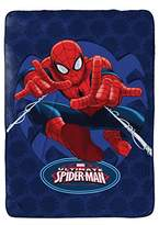 "Marvel Spiderman Astonish Plush Twin 62"" x 90"" Blanket, Spiderman Blue"