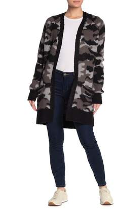 Lucky Brand Camouflage Open Front Cardigan