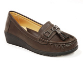 Brown Capped-Tassel Loafer