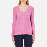 Polo Ralph Lauren Women's Kimberly Cashmere Blend Jumper Wesley Pink Heather