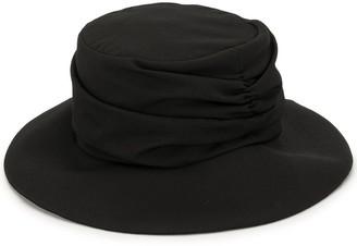 Y's Gathered Fedora Hat