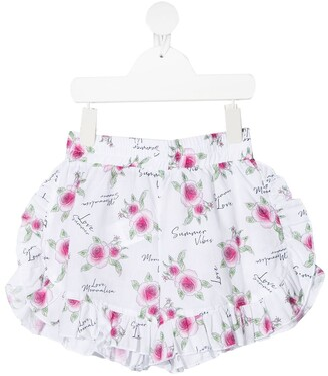 MonnaLisa Rose-Print Shorts