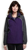 Lands' End Women's Plus Size 3 in 1 Squall Jacket-Zesty Orange/Soapstone