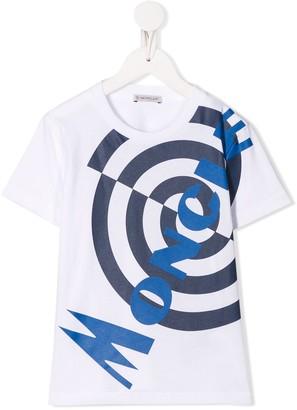 Moncler Enfant logo printed crew neck T-shirt
