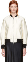 3.1 Phillip Lim Ivory Satin Lacing Bomber Jacket