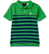 U.S. Polo Assn. Classic Green Stripe Polo - Toddler & Boys