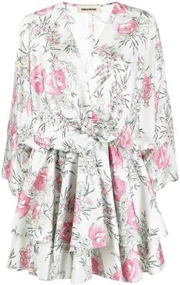 Zadig & Voltaire Floral Sketch Print Dress