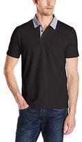 Perry Ellis Men's Polo Shirt with Oxford Collar