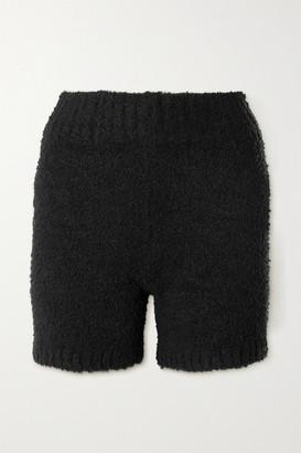 SKIMS Cozy Knit Boucle Shorts - Onyx