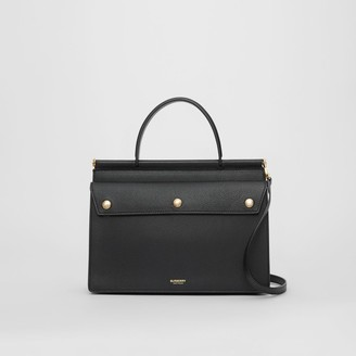 Burberry Small Leather Title Bag with Pocket Detail