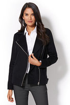 New York & Co. Zip Wool-Blend Moto Jacket