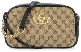 Gucci GG Marmont taupe canvas cross-body bag