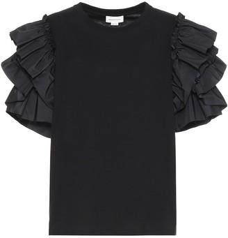 Alexander McQueen Ruffle-trimmed cotton top