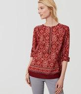 LOFT Scarlet Bouquet Henley Softened Shirt