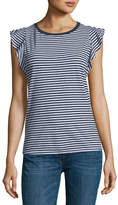 Velvet Margina Crewneck Sleeveless Striped Top